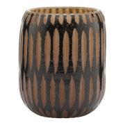 House Doctor - Pimpri Vas Glas 12 cm Svart/Brun