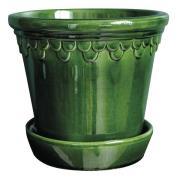 Köpenhavner Kruka/fat 18 cm Grön emerald