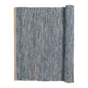 Magda bomullsmatta 80x250 cm Flint stone blue