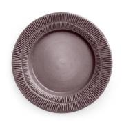 Stripes tallrik 28 cm Plum