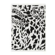 Oiva Toikka Cheetah handduk 50x70 cm Svart-vit