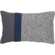 Knit kuddfodral 30x50 cm Dark grey-blue night