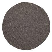 Bloomingville flätad ullmatta grå Ø 140 cm