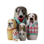 Dog family babushkadockor 5-pack