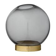 Globe vas small svart-guld