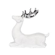Serafina hjort vit-silver liten