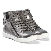 Michael Kors Ivy Cadet Zip Sneakers Silver 29 (UK 11)