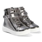 Michael Kors Ivy Cadet Zip Sneakers Silver 23 (UK 6)