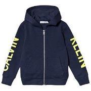 Calvin Klein Jeans Logo Hoodie Marinblå 4 years