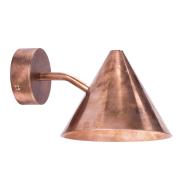 Tratten Mini Vägglampa LED Fast Montage, Koppar