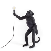 Monkey Lamp Outdoor Standing, Svart
