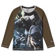 Name It Jungle Bears Långärmad T-shirt Grön 110 cm