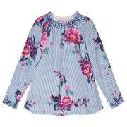Joules Addison Blus Blå/Floral 2 years