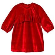 Max Collection Sammetsklänning Dark Red 74 cm