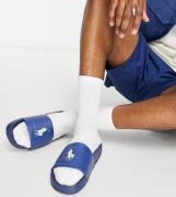 Polo Ralph Lauren x ASOS – Exklusivt samarbete – Marinblå tofflor med ...